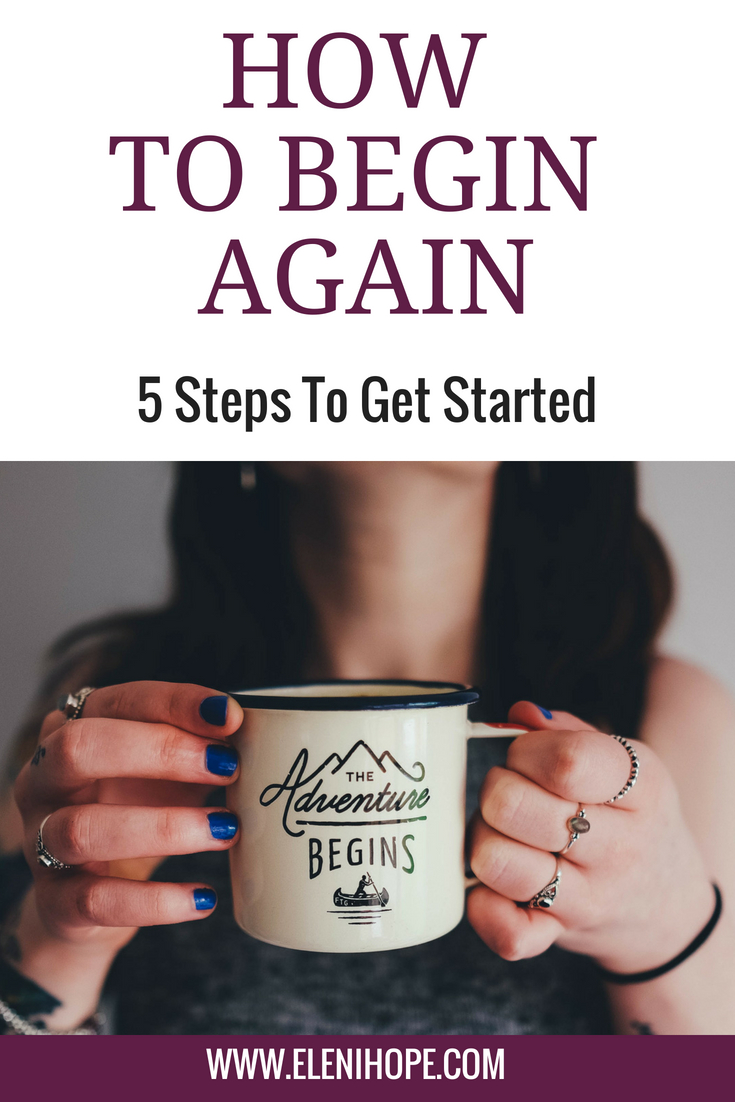 Regardless of when, how, or why, it's never too late to begin again. You can conquer a new challenge, redirect an existing focus, or come back to a passion that you abandoned years ago. It's not always easy, usually a little scary; but always possible. Click here for 5 quick tips on getting started. #reinventyourself #findingyourself #findyourpurpose #thriving #startingover
